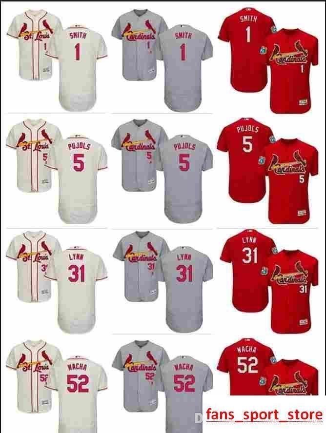 brand new 58a38 30cb7 2019 custom Men's Women Youth Majestic Cardinals Jersey #52 Michael Wacha 1  Ozzie Smith 5 Albert Pujols 31 Lance Lynn Home Baseball Jer
