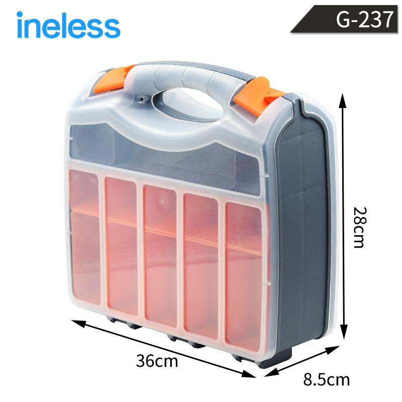 G-237 Double Sided Tools Box Collection Container Flexible Strong Packaging Case Internal Detachable Baffle