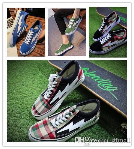 231690918894 2018 New Top Revenge X Storm Old Skool Designer Cavnas Sneakers Womens Men  Low Cut Skateboard Red Blue White Black Casual Running Shoes Revenge X  Storm Old ...
