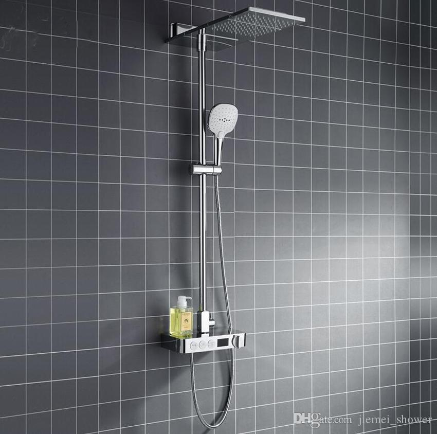 2018 Digital Thermostatic Shower Set Button Mixing Valve With ...