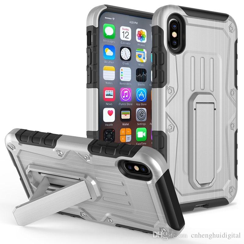 Armor Hybrid Phone Cases For LG Stylo 4 Aristo 2 K10 2017 Aristo MS210 TPU  PC ShockProof with kickstand Oppbag