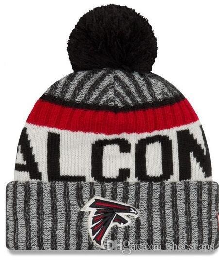b2d1bdf2b3c New Fashion Winter Falcons Hats for Men Women Knitted Beanie Wool Hat Man  Knit Bonnet Beanies Gorro Warm Cap Falcons Beanies Atlanta Beanie Beanies  Store ...