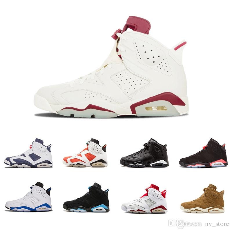 new arrival f9b89 5cfee 2018 New 6 Golden 6s VI Harvest Wheat Gatorade Unc Men Basketball Shoes  Black Cat Infrared Carmine MAROON Sports Sneakers Basketball Mens Shoes  From ...