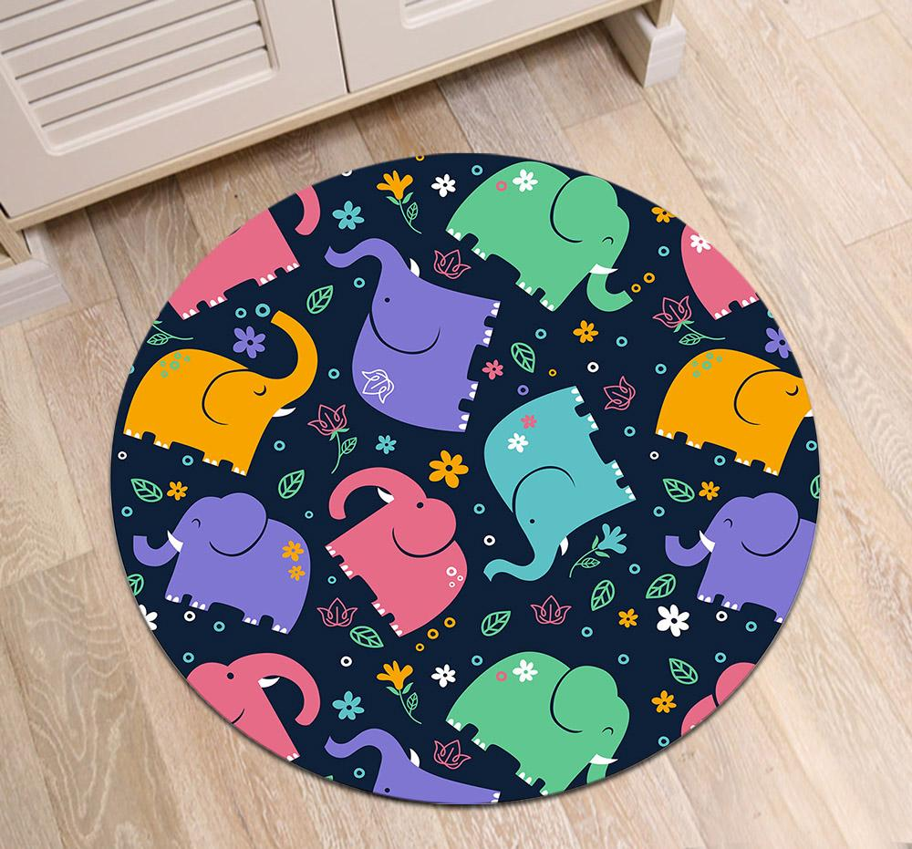 2019 Round Bedroom Floor Area Rugs Children S Room Carpets Bathroom
