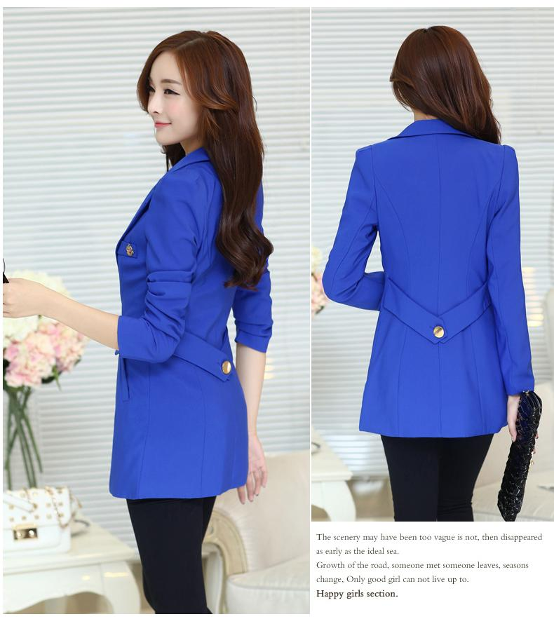 2019 New 2016 Autumn Spring Long Elegant Women Blazers Candy Colors Causal Slim  Ladies Suits Jackets Long Sleeve S10 2 From Lorsoul 034d075e1