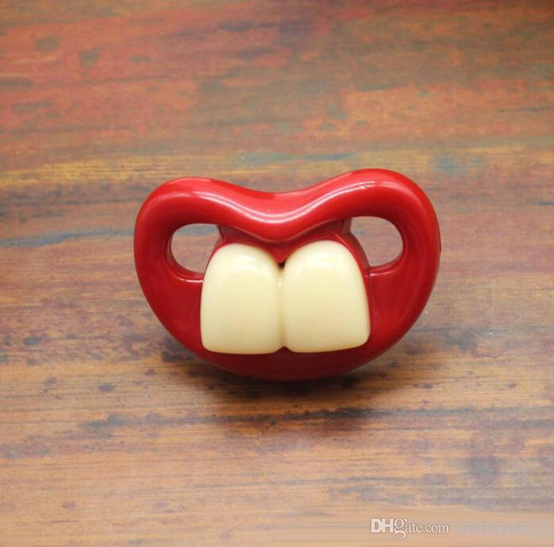 Bebê Chupeta dentes bonitos, engraçados, Barba, Bigode bebê chupeta ortodôntica manequim brinquedos conforto infantil infantil gel Mamilos Silica Chupeta