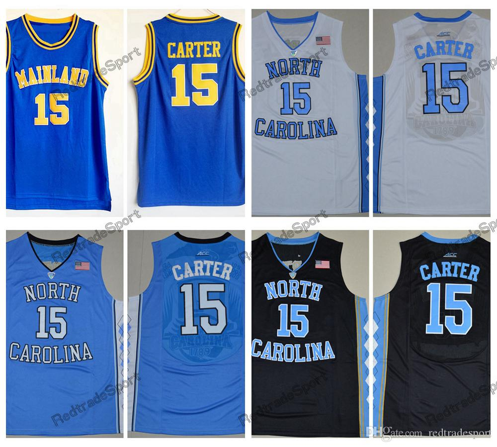2019 Mens Vintage Vince Carter  15 Mainland High School Basketball Jerseys  Cheap Vince Carter North Carolina Tar Heels College Stitched Shirts From ... 54e218e55
