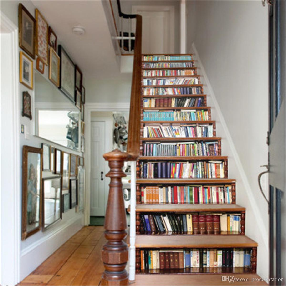 Grosshandel Premium Qualitat Diy Stairway Aufkleber Bucherregal
