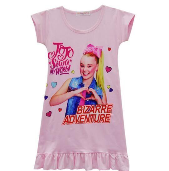 Girls Vest skirt JOJO Headbow hoodies Girls Short sleeve Home cloths Girls lovest Pajama dress for 4-12T