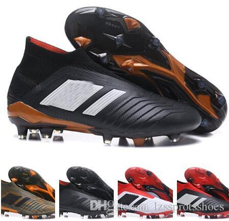 detailed look 56798 78507 High Ankle ACE Predator 18.1 FG Copa Tango Soccer Shoes Men Outdoor  Predator Accelerator Messi Football Boots Soccer Cleats blue black