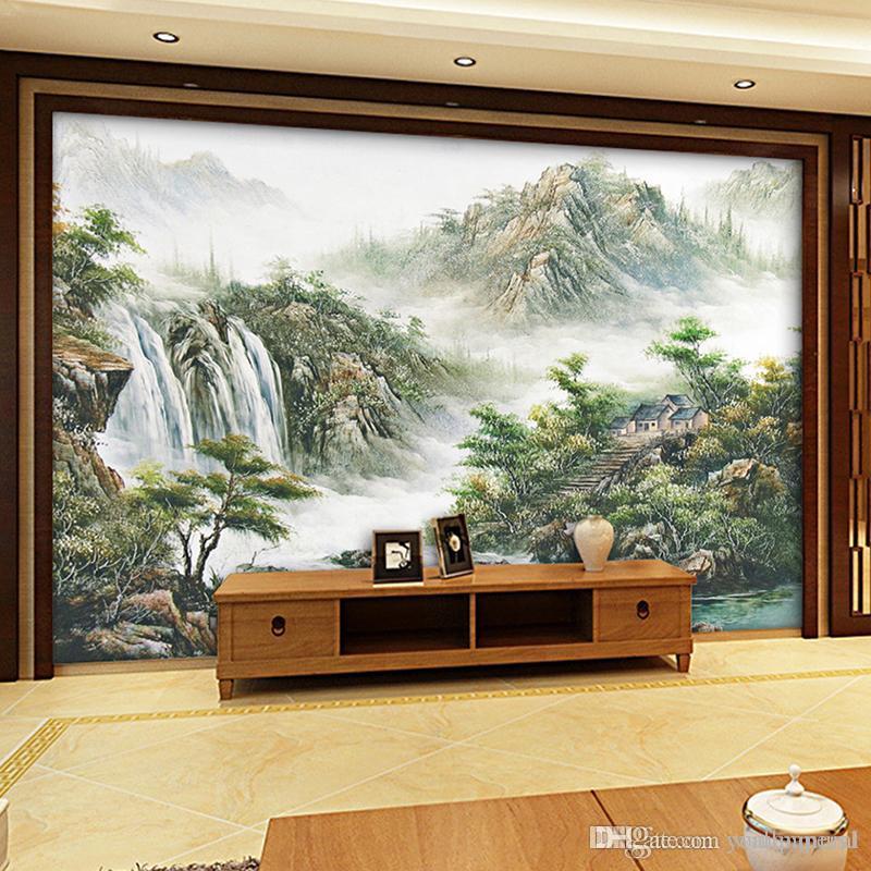 Großhandel Foto 3d Wallpaper Wandbilder Wand Moderne Wohnzimmer ...