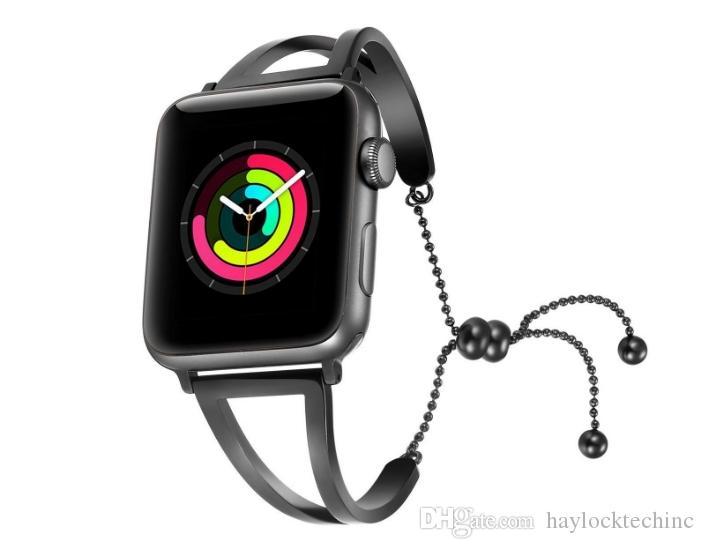 51e46a54617 Banda de relógio para a apple watch 38mm 42mm inoxidável para iwatch série  1 série 2 série 3 flor cinta impressões florais relógio de pulso pulseira