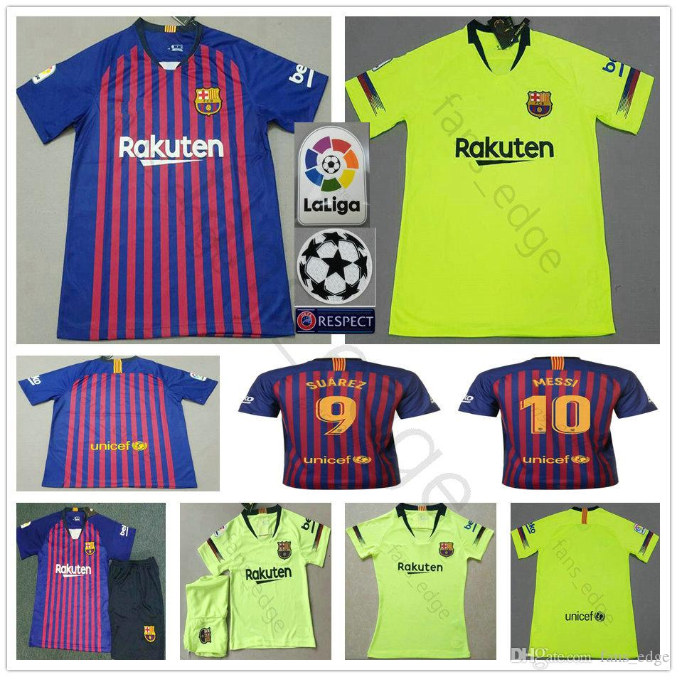 fa9380d48 18 19 Barcelona FC Soccer Jerseys MESSI SUAREZ COUTINHO DEMBELE PIQUE  MALCOM RAKITIC Customize 2019 Men Women Kids Youth Football Shirts