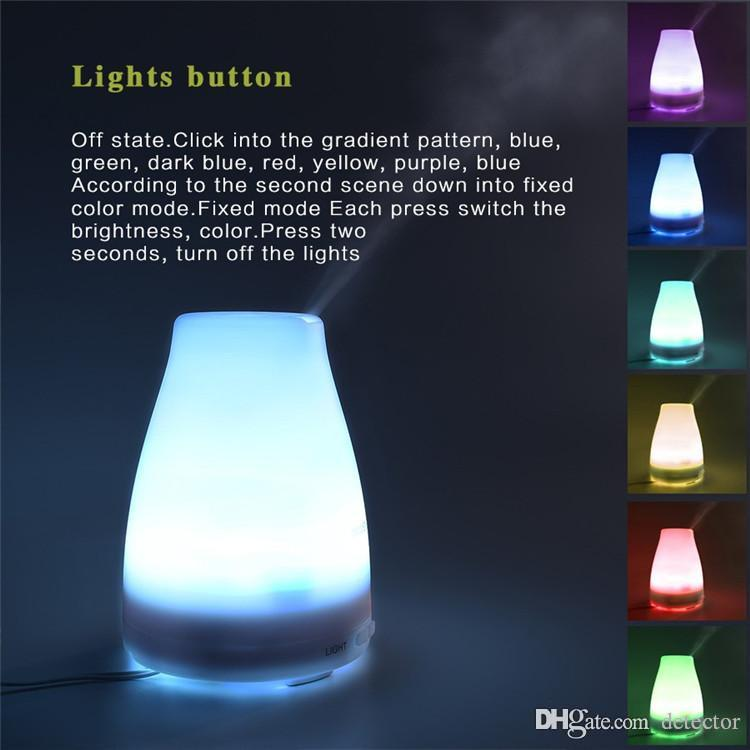 100ml Essential Oil Diffuser Portable Aroma Humidifier Diffuser LED Night Light Ultrasonic Cool Mist Fresh Air Spa Aromatherapy ST-08