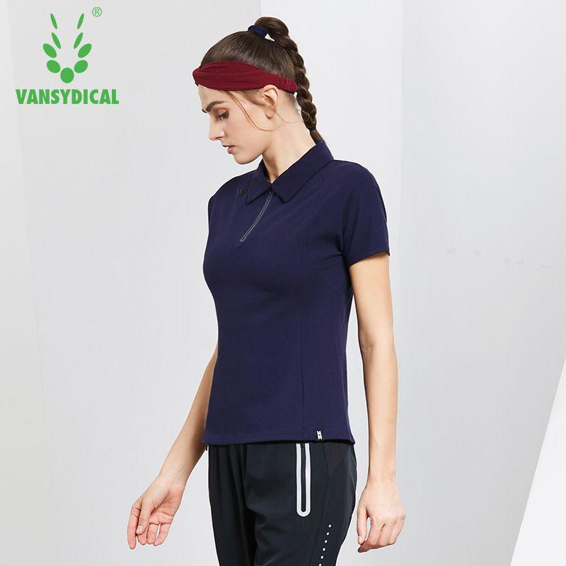 2b667845 NEW Women's Half Zipper Golf Polo Shirts Short Sleeve Cotton Breathable  Outdoor Workout Tennis Golf Jerseys Sports Tops