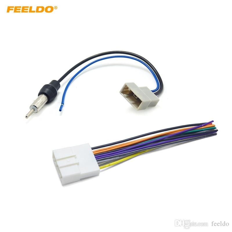 2019 feeldo car cd audio stereo wiring harness antenna adapter for nissan/subaru/infiniti  install aftermarket cd/dvd stereo #1647 from feeldo,