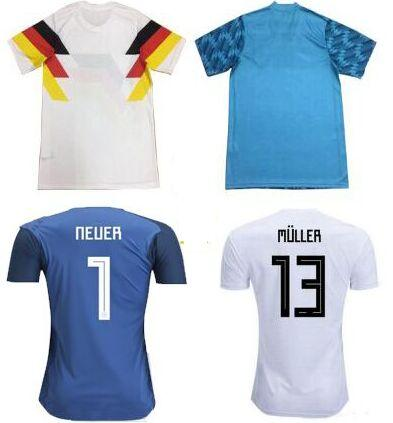 cheap for discount 3db66 71943 Best thai Quality Camiseta de futbol world cup 2018 national team jerseys  Trikot Manuel Neuer Ter Stegen Ozil Blue goalkeeper Soccer Jerseys
