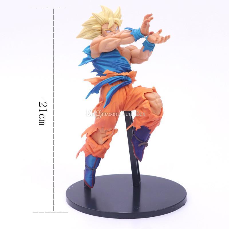 Cartoon Anime Dragon Ball Z Son Goku Figures Shock Wave Super Saiyan Son Gokou Dragonball PVC Action Figure Model Toys Brinquedos 21CM