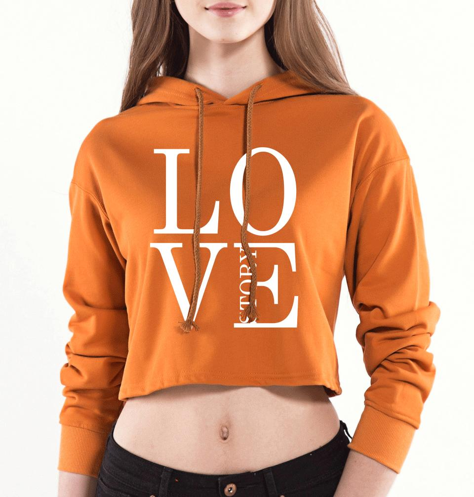 fbd2ea09d 2018 Hot Sale Hoodies For Women Sexy Short Sweatshirt Print LOVE STORY Hip  Hop Streetwear Harajuku Kawaii Hoody Sexy Lady Kpop