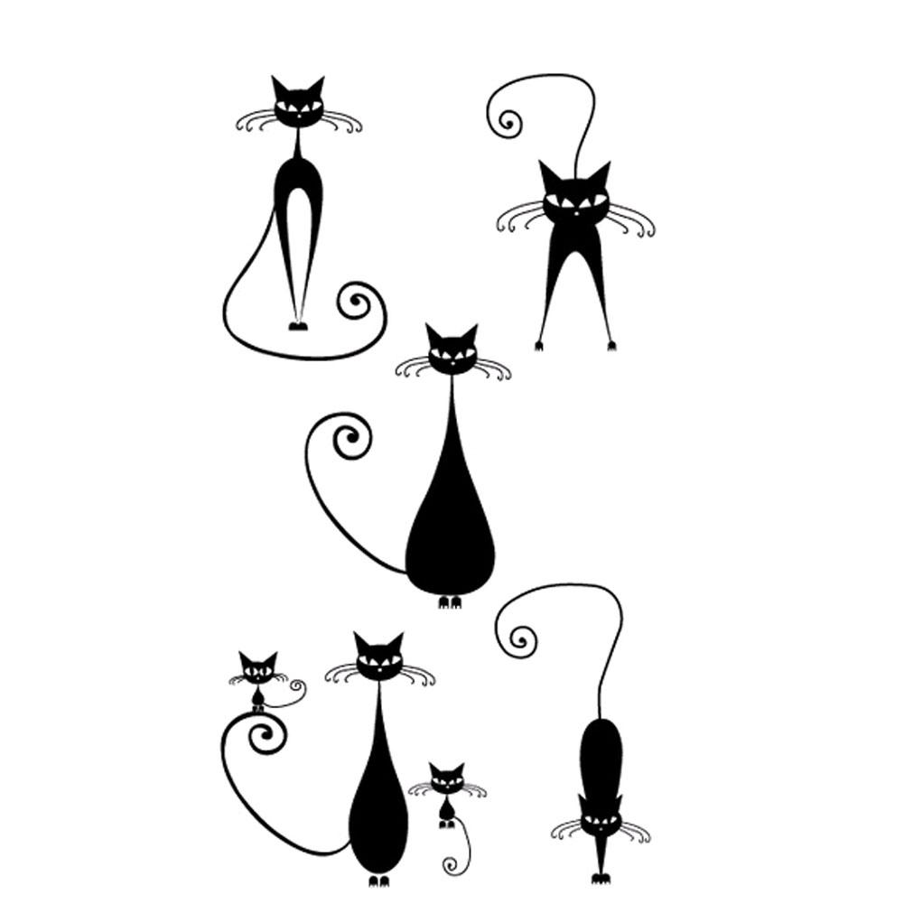 Beauty Decal waterproof temporary tattoo Sticker Body Art Feather Cartoon Animal Tatoo Stickers
