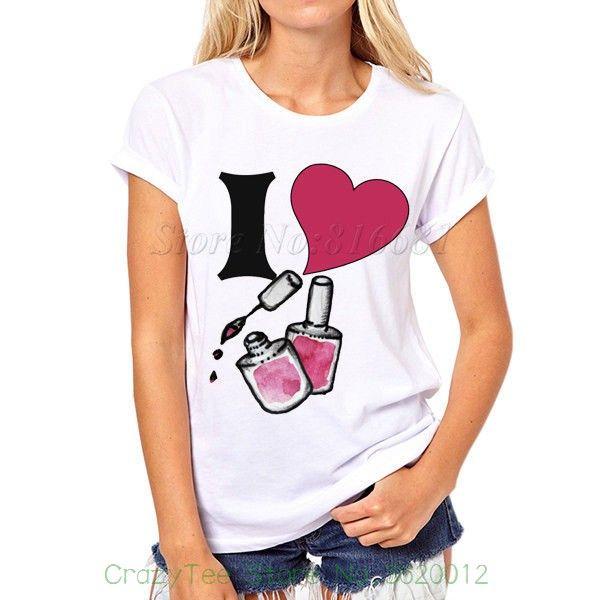 5afb8f94b85 Acheter Femmes Tee Nouveauté J aime Nail Polish Work Layout Conception Drôle  Joke Femmes T Shirt Tee Imprimé Tee Shirt De  13.95 Du Crazyteestore