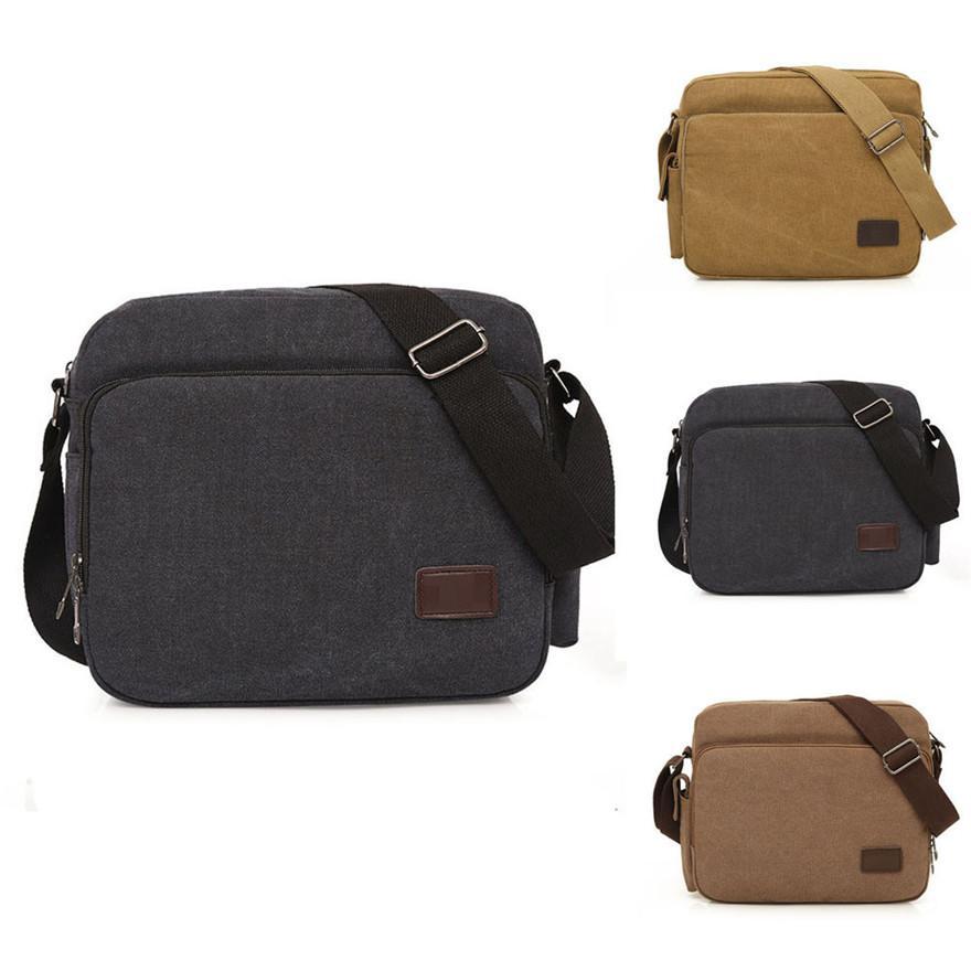 ea4fe84c9cdd New Arrival Men Handbag Men S Canvas Messenger Shoulder Bag Bolsa Crossbody  Sling School Bags Satchel Sac A Main Clutch Purses Purses Wholesale From ...