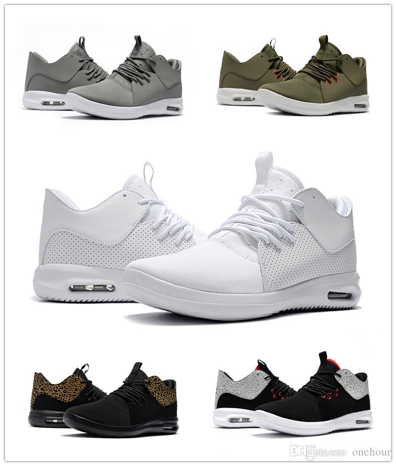 eb8c6f215a79 2018 New First Class Men Running Shoes Lightweight Comfortable Olive Black  White Designer Sneakers Mens Trainers Size 7 12 Basketball Mens Shoes From  ...