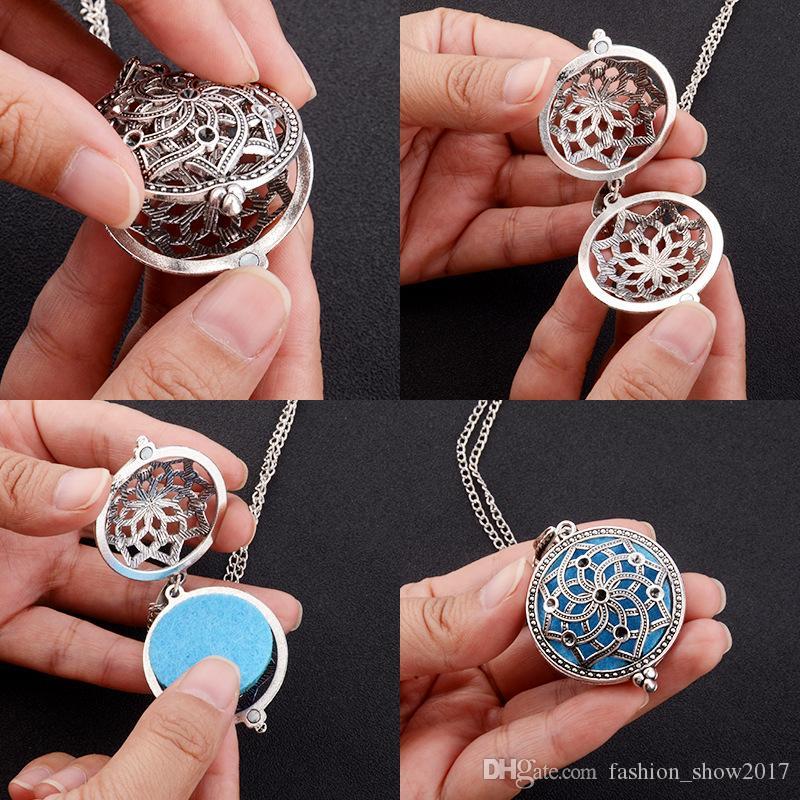 Новый старинный аромат диффузор ожерелье открытые антикварные шкафы подвесные духи эфирное масло ароматерапия ожерелье без прокладки