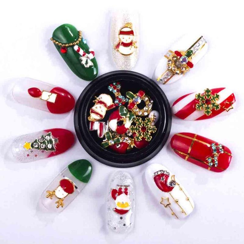 Diy Nail Art Tips 3d Christmas Alloy Rhinestone For Manicure Tools