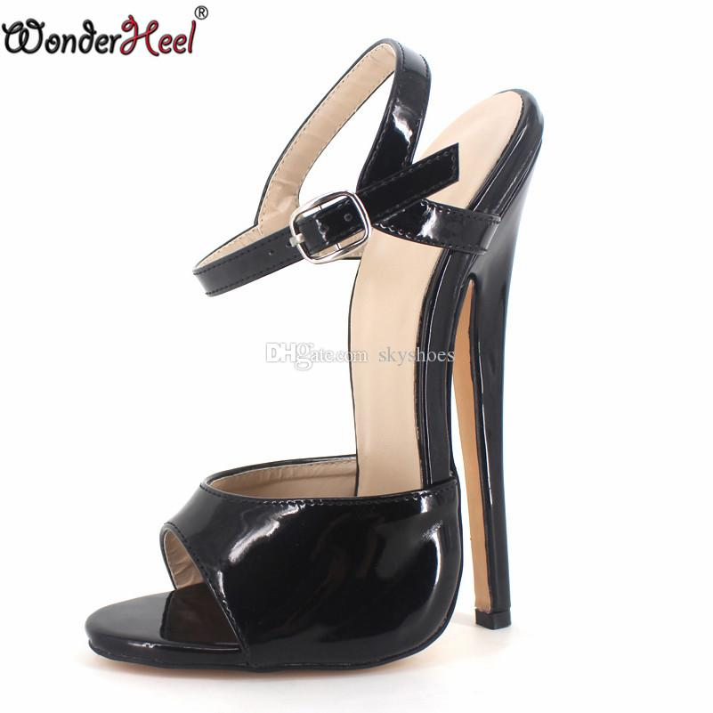 c5360756cdd Wonderheel Hot Sale Extreme High Heel Appr. 7 Heel Sexy Fetish BUCKLE STRAP  Stiletto Heel WOMEN Sexy SANDALS Summer Shoes Purple Shoes From Skyshoes