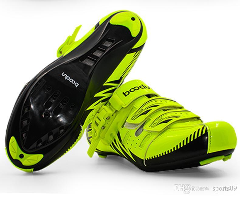 BOODUN Extérieure Hommes Chaussures de Vélo Respirant Route Chaussures de Course Auto-bloquant Vélo Vélo Chaussures résistant à l'usure Sapatos de ciclismo