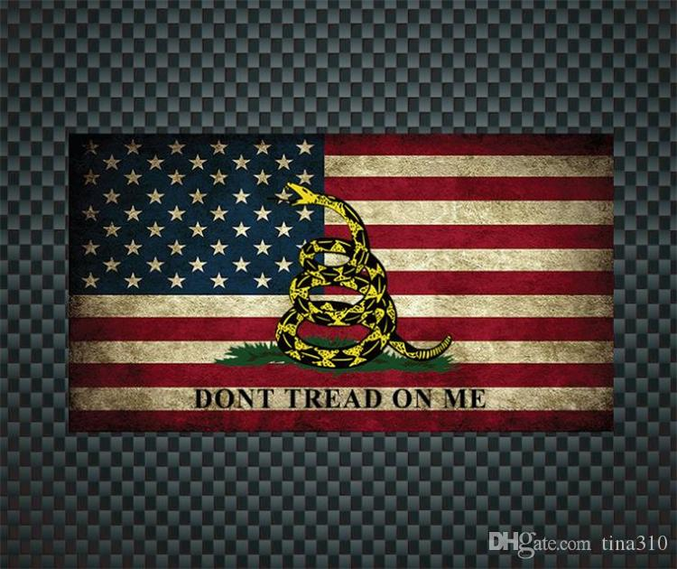 장식 스티커 DONTAL / American 노란색 뱀 자동차 스티커 / 파란색 스트라이프 경찰 개 자동차 스티커 창 스티커 I244