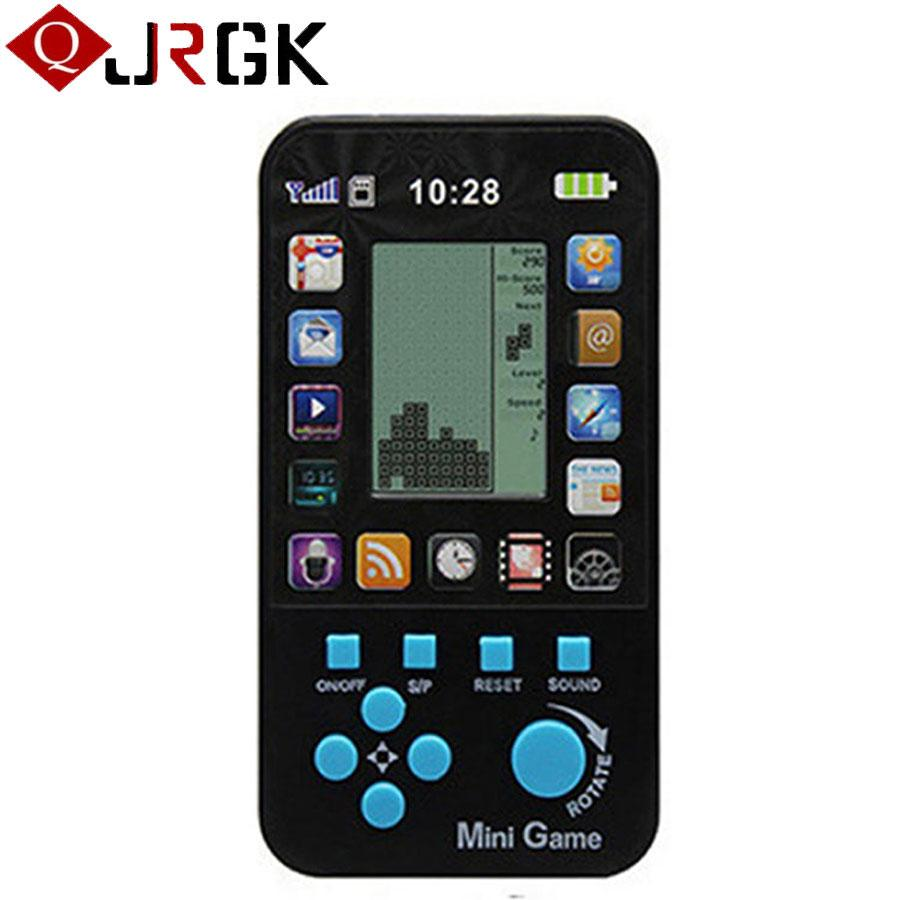 Classic Tetris Game Console Portable Mini Childhood Handheld Game Players  Children Kid Intelligence Toys Consoles Wholesale