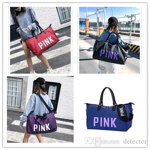 Pink Letter Sequin Duffle Bags Women Handbag Large Capacity Waterproof  Outdoor Travel Sports Beach Shoulder Bags Tote Shopping Bag Sale Organic  Cosmetics ... 4599d2c078