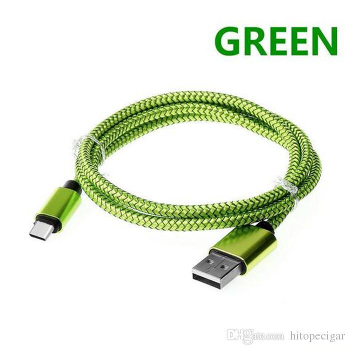 1M 2M 3M lega di alluminio di ricarica tessuto intrecciato USB 2.0 tipo C cavo dati accessori bundle tipo c Samsung Android