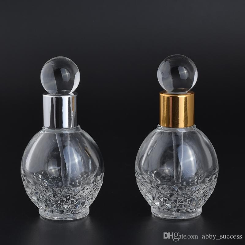 New Arrival 13ml Ball Shape Glass Empty Container Refillable Portable  Dropper Perfume Bottles
