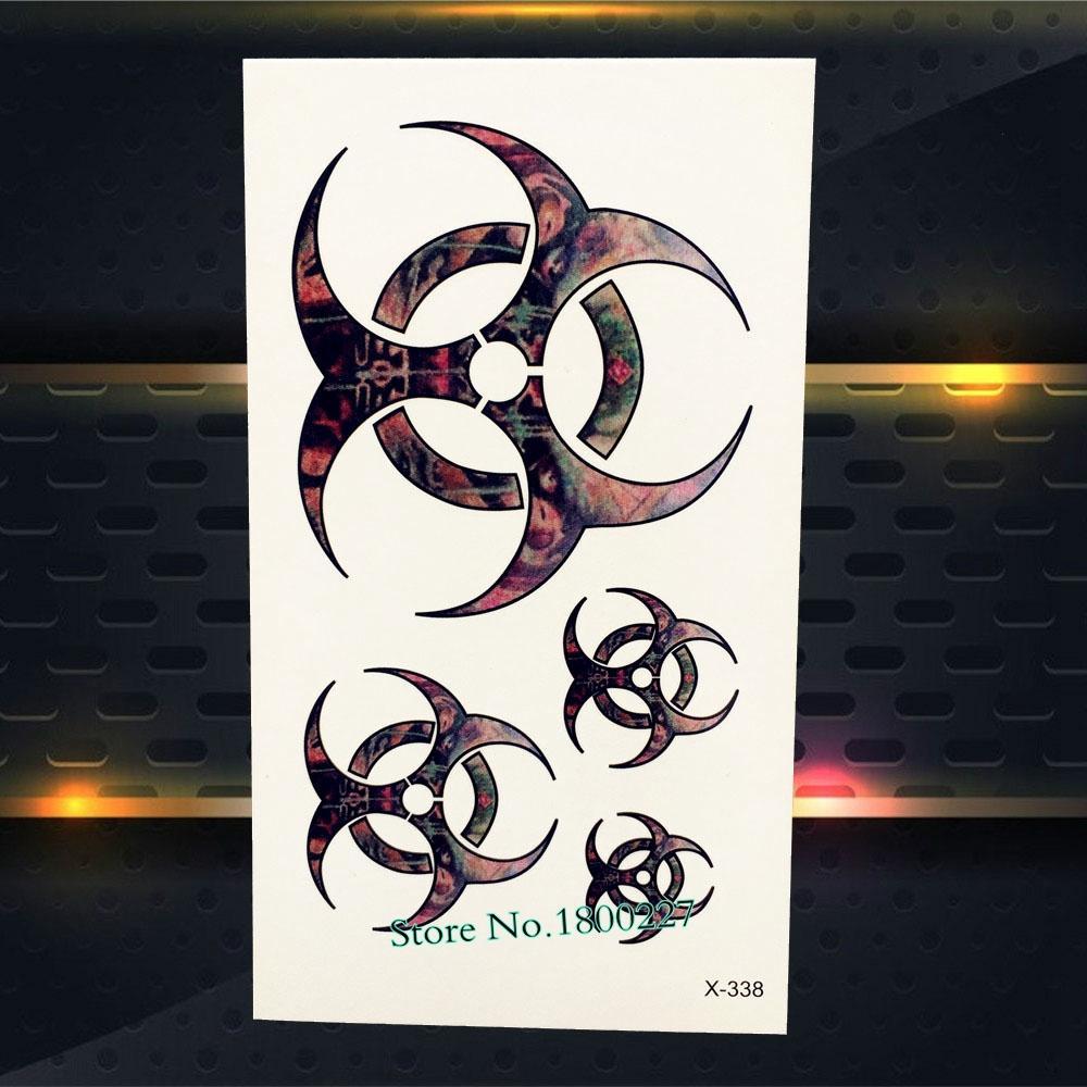 Cool Men Temporary Tattoo Stickers Black PAQ-121 Insipire Tattoo Totem Pattern Fake Flash Metallic Body Art Armband Boy Tattoo