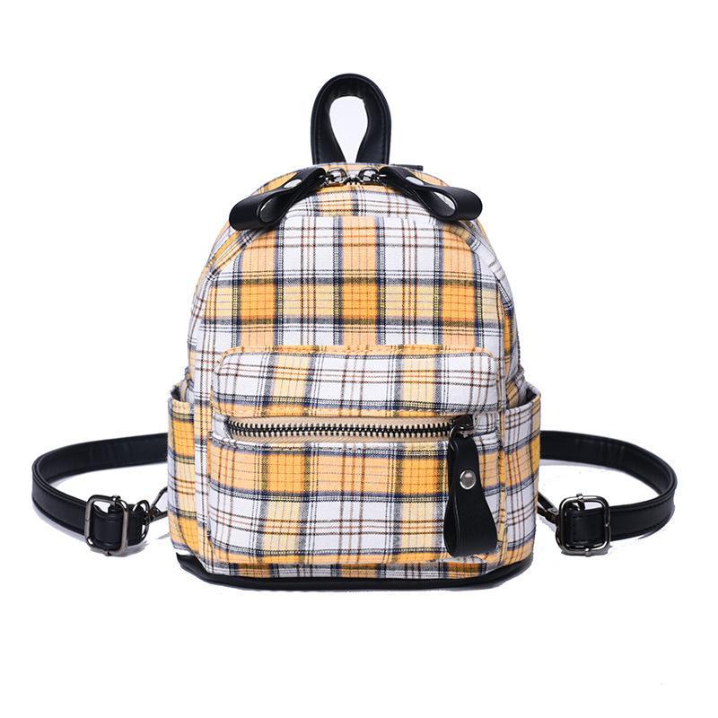 HIVICKY 2018 Korean Fashion Mini Backpacks Canvas Plaid Smallbags For  Female Schoolbackpacks For Girls Bolsa Feminina Purses School Bags From  Fenxin f2a46d5f1a346