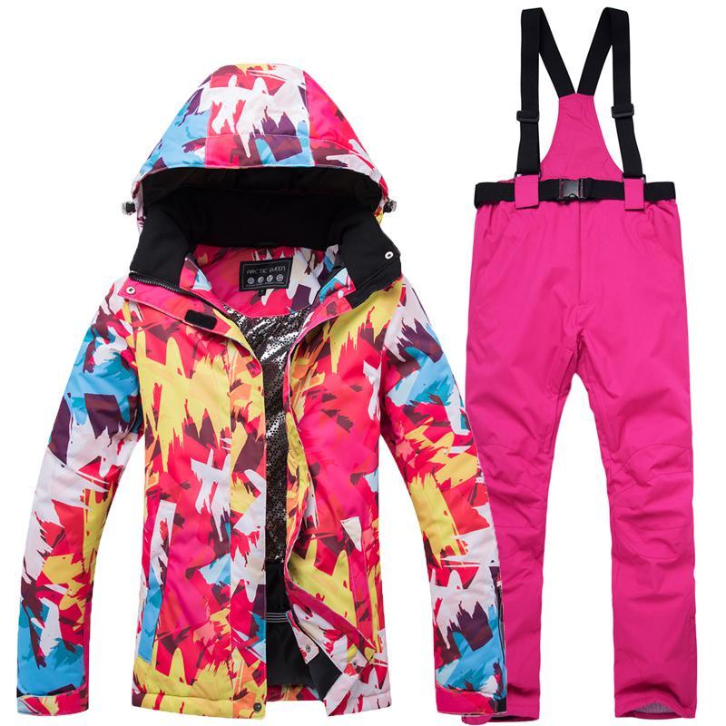 Skiing & Snowboarding Nice 2019 New Ski Suit Womens Winter Warm Ski Jacket Windproof Waterproof Wear-resistant Snow Pants Ski Jacket And Snowboard Set