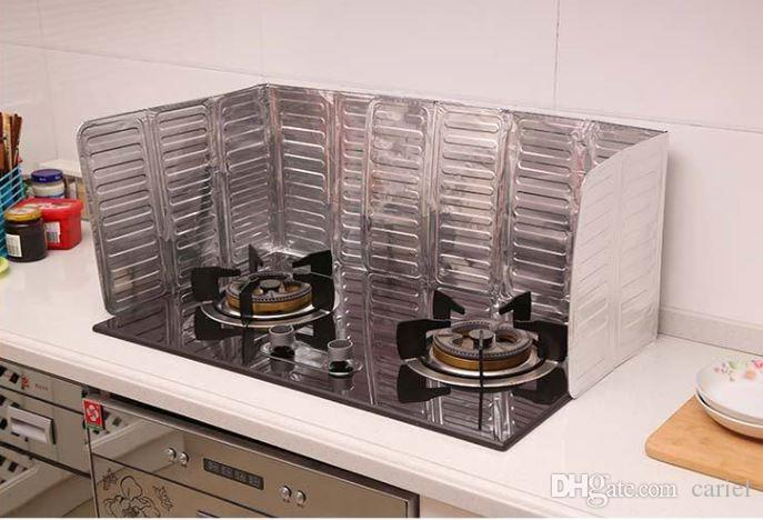 Kitchen Oil Splash Guard Gas Stove Cooker Oil Removal Scald Proof Board Kitchen Too Every oil baffle aluminum foil plate helper h137