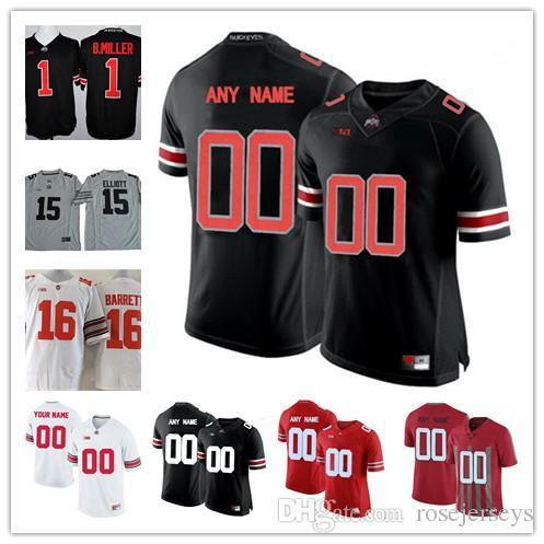 Custom Men Youth Ohio State Buckeyes 16 Barrett Miller College Football Jersey Limited white red black Personalized Stitched Any Name Number