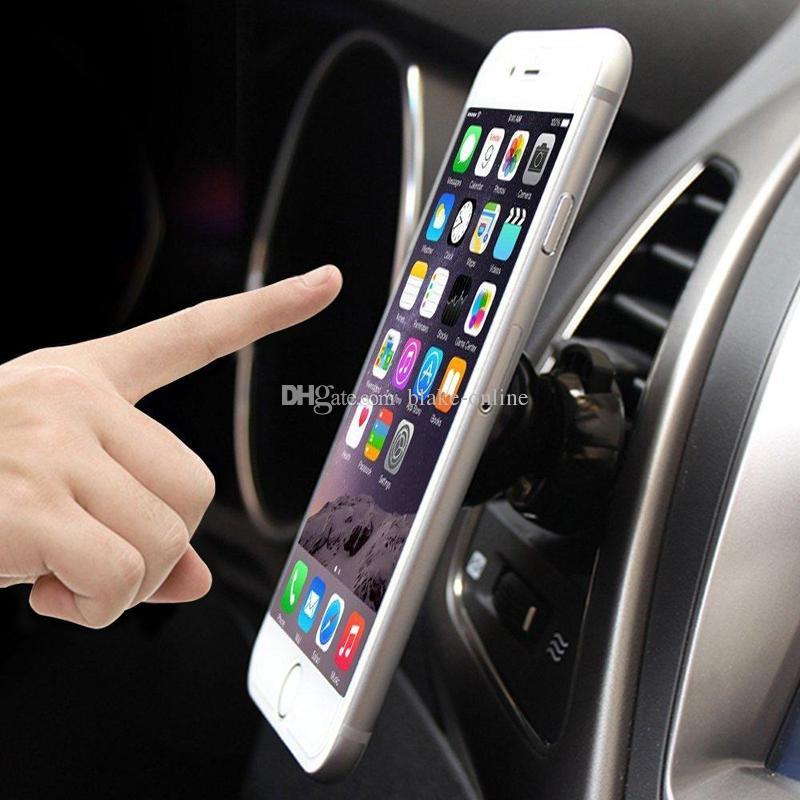 아이폰 X 삼성 GPS 모바일 강화 자석 마운트와 강력한 자석 유니버설 자동차 에어 벤트 전화 마운트 360도 홀더