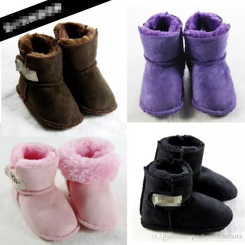 new concept e4634 c7ce1 Baby Schnee Stiefel Winter Schuhe für Babys Pelz Stiefel Kleinkinder Schuhe  zum Verkauf 0-12M Schuhe für Baby Geschenkideen Kleinkinder Erste Wanderer