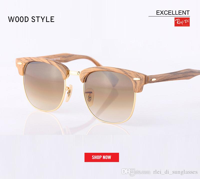 a74803409f 2018 Fashion Club Sunglasses Women Summer Style Vintage Master Sun Glasses  High Quality Luxury Brand Imitation Wood Style Grain Sunglasses Sunglasses  For ...