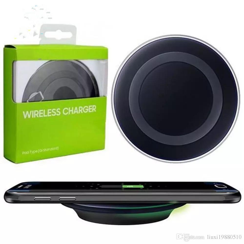 Qualitäts-Universal-Qi-drahtloses Ladegerät für Samsung Note8 Galaxie s7 Rand s8 plus note8 iphone 8 X bewegliche Auflage mit Paket usb-Kabel