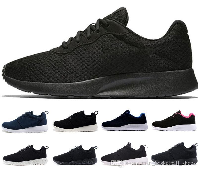 low priced 22774 8956b Compre Nike Tanjun Venta Al Por Mayor Zapatos Para Correr En Blanco Y Negro  New London 1.0 3.0 Rojo Gris Mujer Hombre Zapatillas Deportivas Zapatillas  ...
