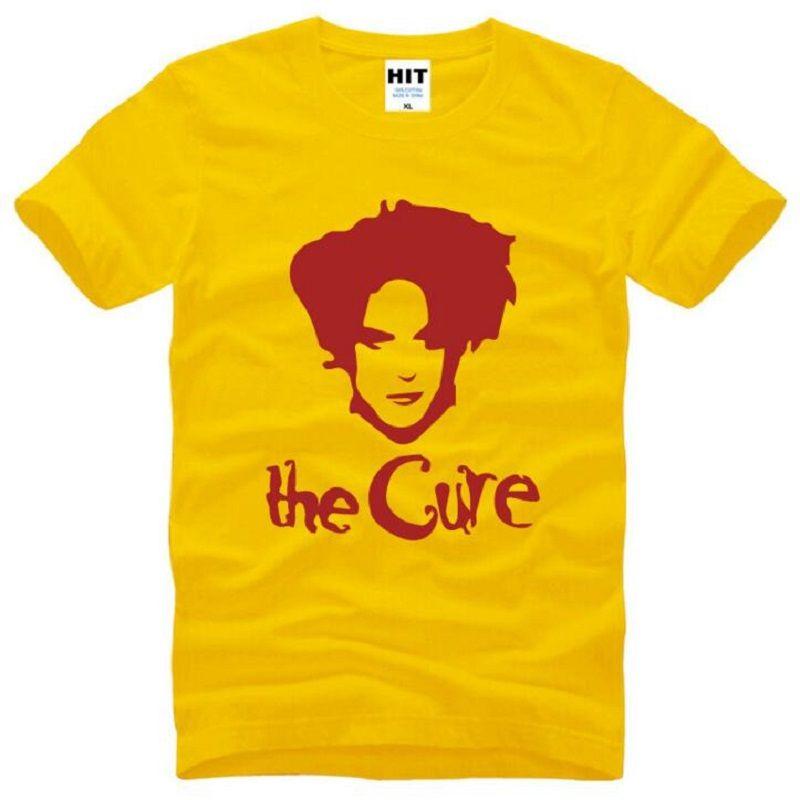 The Cure Rock Band Printed T Shirts Men Summer Short Sleeve O-Neck Cotton Men's T-Shirt Fashion Rock Hip Hop Tee Shirt Homme Hot