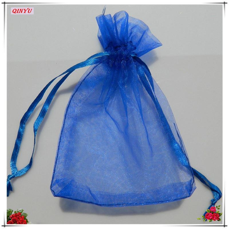 100 قطع 7x9 cm الأورجانزا شير الشاش حقائب مجوهرات التعبئة drawable اورجانزا حقائب الزفاف هدية أكياس الكيس اورجانزا 5Z-SH312