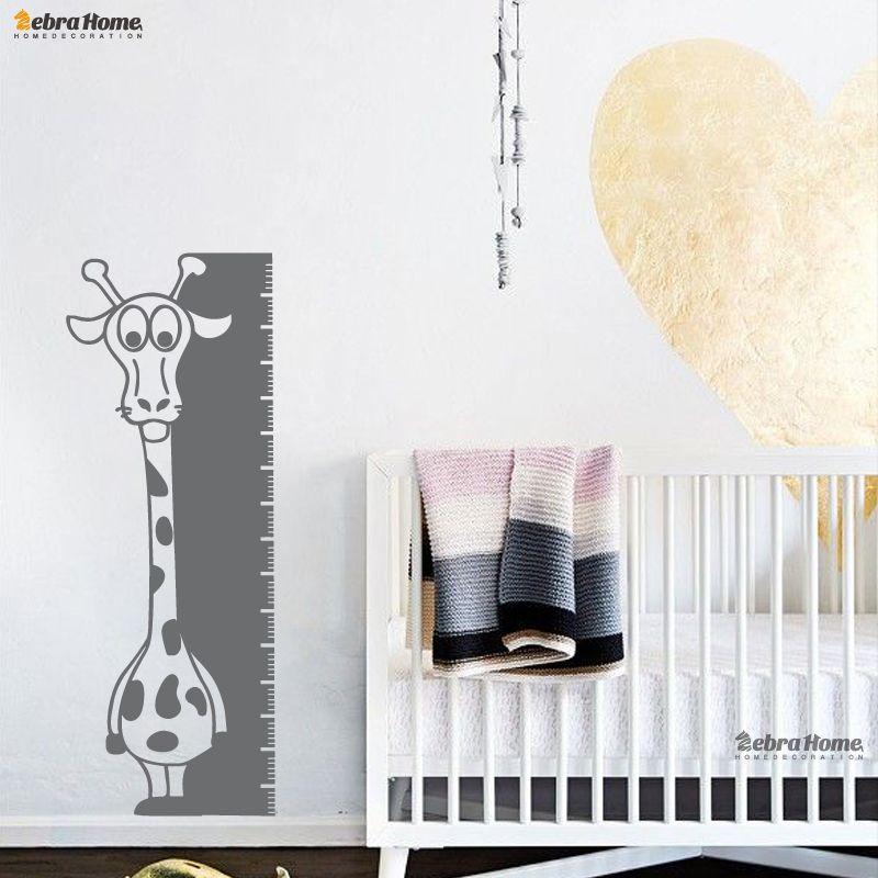 tickers animals giraffe height measurement ruler baby growth chart