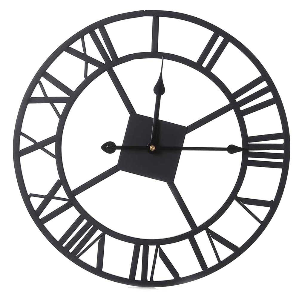 d5cf48a94cd Acheter 3D Grand Fer Rétro Horloge Murale Grand Art Grande Horloge  Décorative Vintage Montre Home Decor Chiffres Romains Accueil De $61.6 Du  Brendin ...